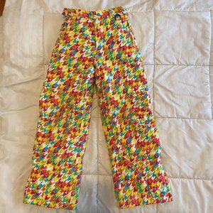 LL Bean Snow Pants Girls Sz 10 Colorful Houndstoot